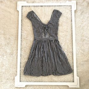 Hollister Gingham Peek-a-Boo Mini Dress